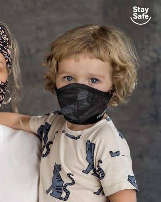 mascarilla infantil proteccion coronavirus con triple capa-145- Negro Estampado-ImagenPrincipal