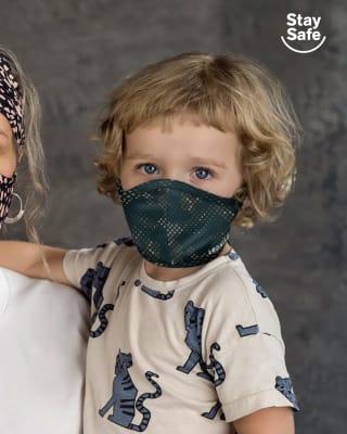 tapabocas infantil hermetico proteccion triple capa tecnologia antifluido y antibacterial - unisex-249- Militar-MainImage
