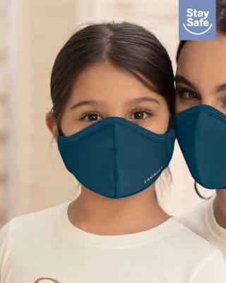 tapabocas infantil hermetico proteccion triple capa tecnologia antifluido y antibacterial - unisex-541- Azul Petroleo-MainImage