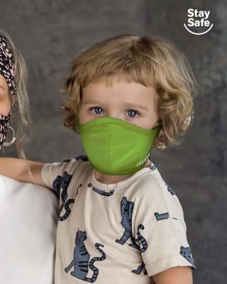 tapabocas infantil hermetico proteccion triple capa tecnologia antifluido y antibacterial - unisex-602- Neon Green-MainImage