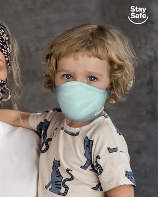 tapabocas infantil hermetico proteccion triple capa tecnologia antifluido y antibacterial - unisex-634- Green-MainImage