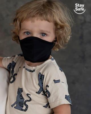 tapabocas infantil hermetico proteccion triple capa tecnologia antifluido y antibacterial - unisex-713- Black-MainImage