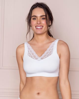 pocketed lace trim wireless bra-000- White-MainImage