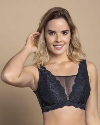 multiwear lace bralette - post mastectomy-700- Black-MainImage