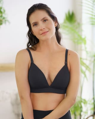 nursing bra with antibacterial technology and accessory to detach cups-700- Black-MainImage