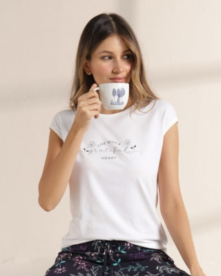 camiseta manga corta de pijama - bronzini-084- Crudo-MainImage
