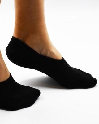 calcetin invisible de algodon - sensacion de no llevar medias-700- Black-MainImage