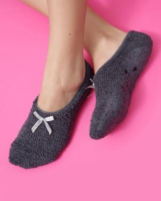 calcetin de mujer tipo calceta textura afelpada-706- Gris-MainImage