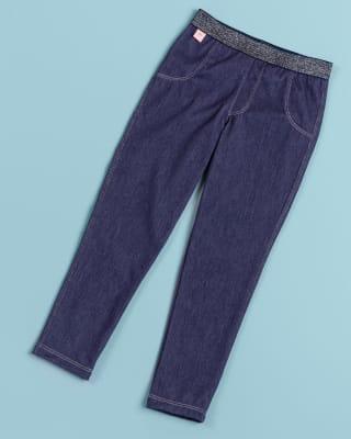 legging con cintura en elastico para nina-052- Azul Medio-MainImage