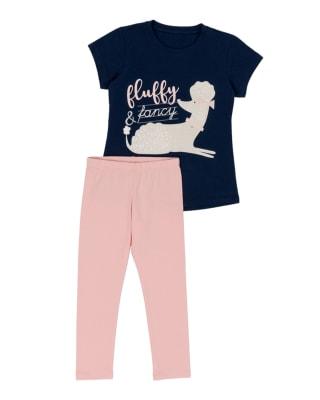 conjunto para nina camiseta  legging-313- Rosado-MainImage