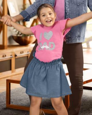 conjunto nina camiseta y falda enresortada-301- Rosado-MainImage