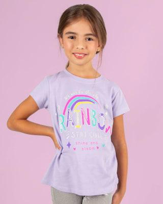 camiseta manga corta con lentejuelas estampadas para nina-081- Fondo Blanco-MainImage