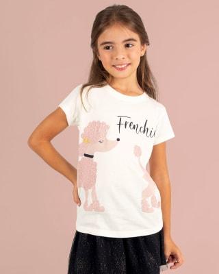camiseta nina manga corta textura 3d plateada-081- Fondo Blanco-MainImage