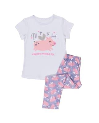 pijama nina camiseta y pantalon largo en tela tacto durazno-285- Morado Estampado-MainImage