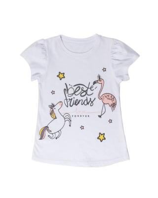camiseta nina manga corta con estampado con brillantina-000- Blanco-MainImage