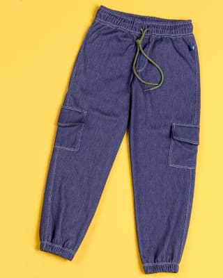 jogger nino con bolsillos tipo cargo-487- Azul-MainImage