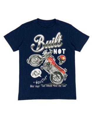 camiseta para nino con estampado con tecnica 3d-517- Azul Est-MainImage