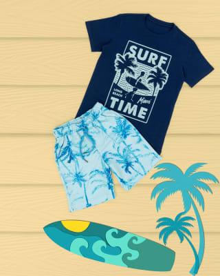 conjunto camiseta y bermuda estampada para nino-547- Azul-MainImage