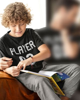 conjunto camiseta y jogger para nino con estampado 3d-157- Negro Gris-MainImage