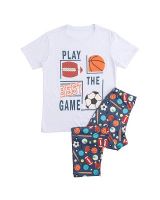 conjunto de pijama para nino camiseta y pantalon y estampado 3d-208- Blanco Estampado-MainImage