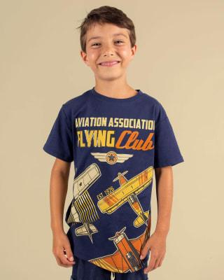 camiseta nina manga corta con estampado con relieve-057- Fondo Azul-MainImage