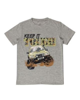 camiseta nino manga corta con estampado localizado-743- Fondo Gris Jaspe-MainImage