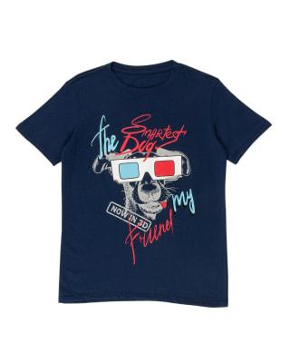 camiseta nino manga corta estampado perro en gel 3d-059- Fondo Azul Oscuro-MainImage