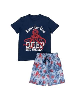 conjunto nino camiseta en algodon y bermuda con bolsillos-059- Azul Oscuro-MainImage