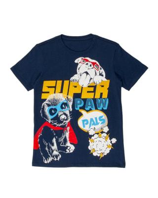 camiseta de nino con estampado con tecnica 3d-457- Azul Oscuro-MainImage
