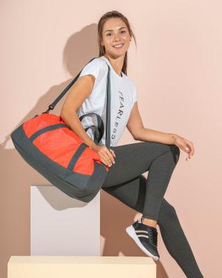 bolso deportivo con cierrre y cargaderas-230- Naranja Neon-MainImage