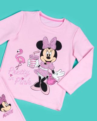 buzo nina minnie con estampado en glitter rosado-040- Rosa Est-MainImage