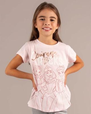 camiseta nina de manga corta con estampado brillante-093- Fondo Rosa-MainImage