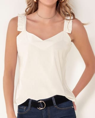 blusa tiritas detalle plizado en hombros-018- Marfil-MainImage
