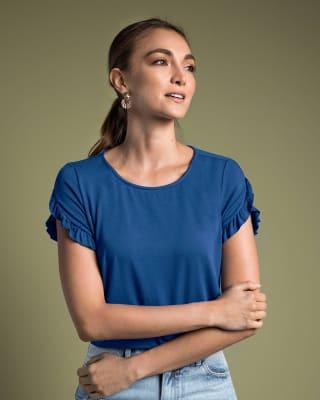 camiseta manga corta con bolero corto en mangas-570- Cobalto-MainImage
