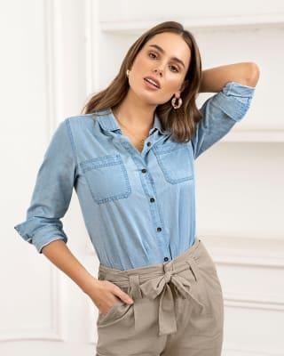 blusa manga larga indigo 100 algodon--MainImage
