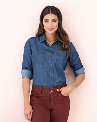 blusa manga larga indigo 100 algodon-408- Azul Medio-MainImage