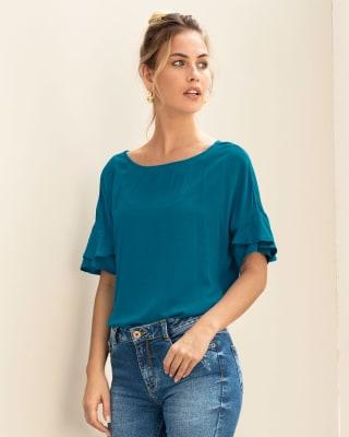 blusa manga corta rodada con bolero-294- Azul-MainImage