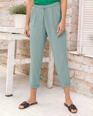 pantalon bota recta de silueta semiajustada con bolsillos funcionales-609- Verde Claro-MainImage