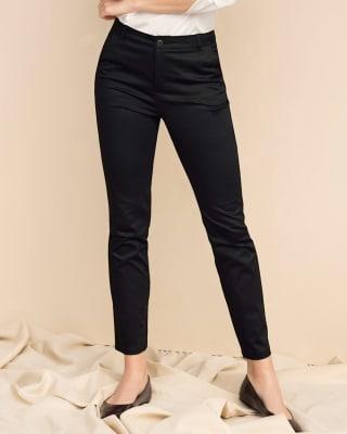 pantalon skinny de tiro alto con bolsillos delanteros funcionales-700- Black-MainImage