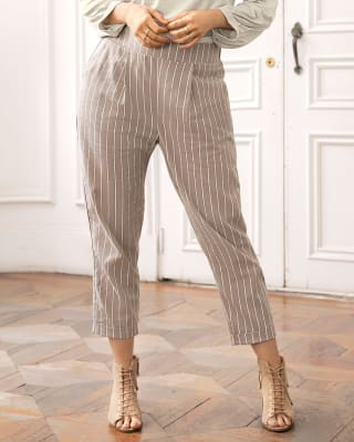 pantalon para mujer de tiro alto con dobladillo en ruedo-146- Rayas-MainImage