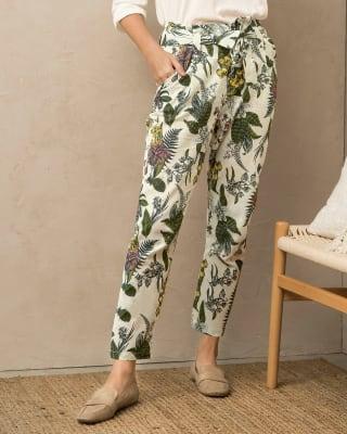pantalon largo estampado para mujer con tira para anudar en cintura-088- Estampado-MainImage