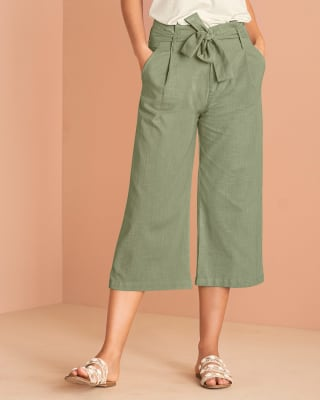 pantalon exterior corto con bolsillos frontales funcionales para mujer-617- Verde Oliva-MainImage