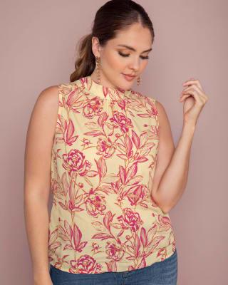 blusa manga sisa con anudado en espalda--MainImage
