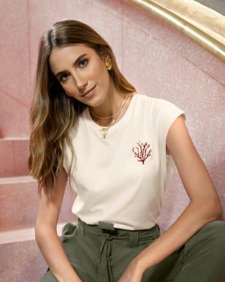 camiseta de sisa amplia para mujer-018- Marfil-MainImage