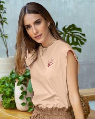 camiseta de sisa amplia para mujer-036- Rosado-MainImage