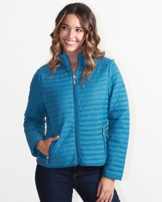 chaqueta manga larga fuera de serie para mujer-547- Azul-MainImage
