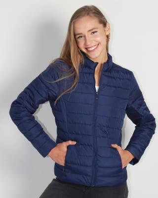 chaqueta manga larga con cierre y bolsillos funcionales fuera de serie para mujer-547- Azul-MainImage