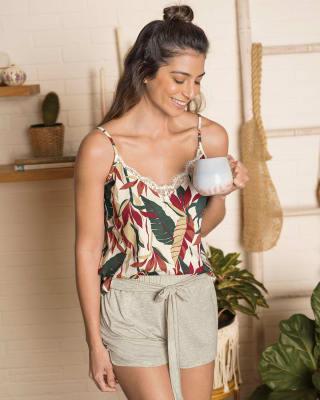 short corto de pijama con tira para anudar en cintura-849- Beige-ImagenPrincipal