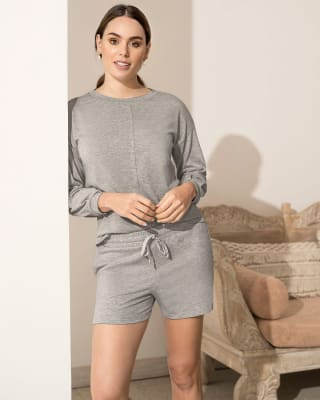 comfy pajama short with pockets and drawstring waist--MainImage