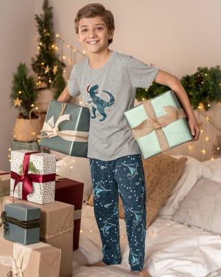 childrens short sleeve pajama set-145- Estampado-MainImage